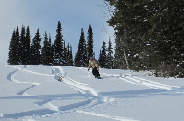 tamarack deep turns Tamarack powderskate demo