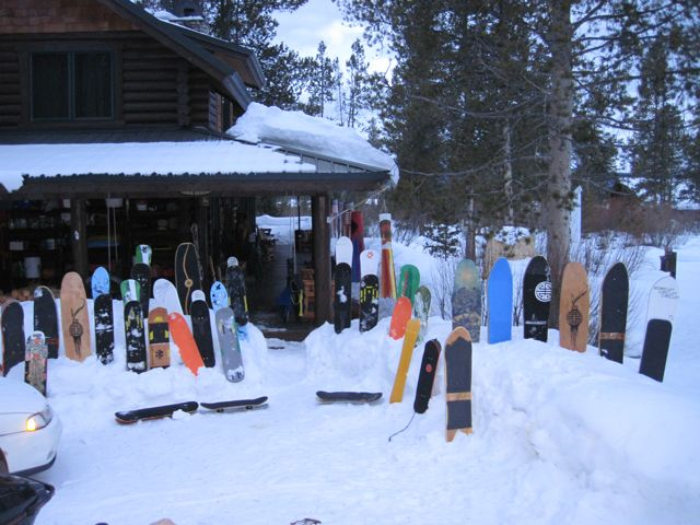 sawtooth cabin board shot a Skate the Sawtooths