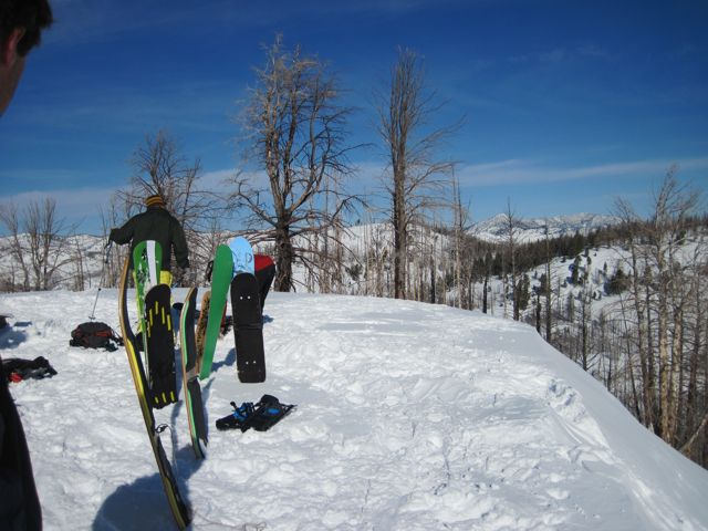 sawtooths demo pic a board Skate the Sawtooths